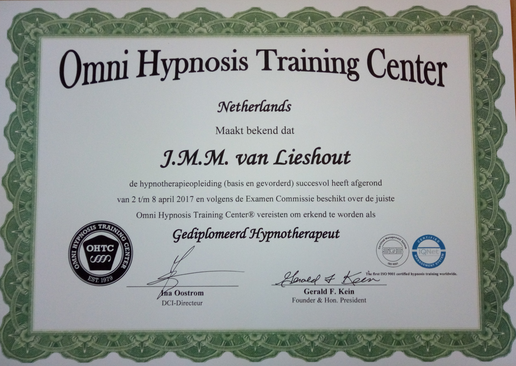 Omni Hypnosis Training Center